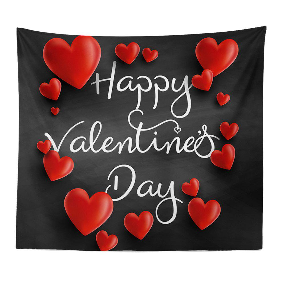 Hand-Made Hd Digital Printing Wall Decoration Tapestry Valentine'S Day Decoration - BLACK 150X100CM