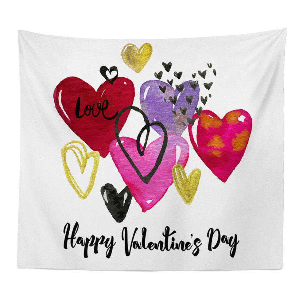 Hand-Made Hd Digital Printing Wall Decoration Tapestry Valentine'S Day Decoration - multicolor 150X100CM