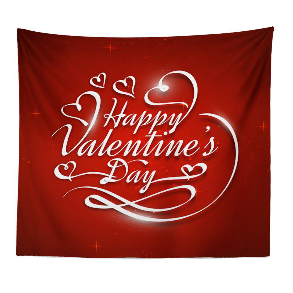 Hand-Made Hd Digital Printing Wall Decoration Tapestry Valentine'S Day Decoration - DARK RED 150X100CM