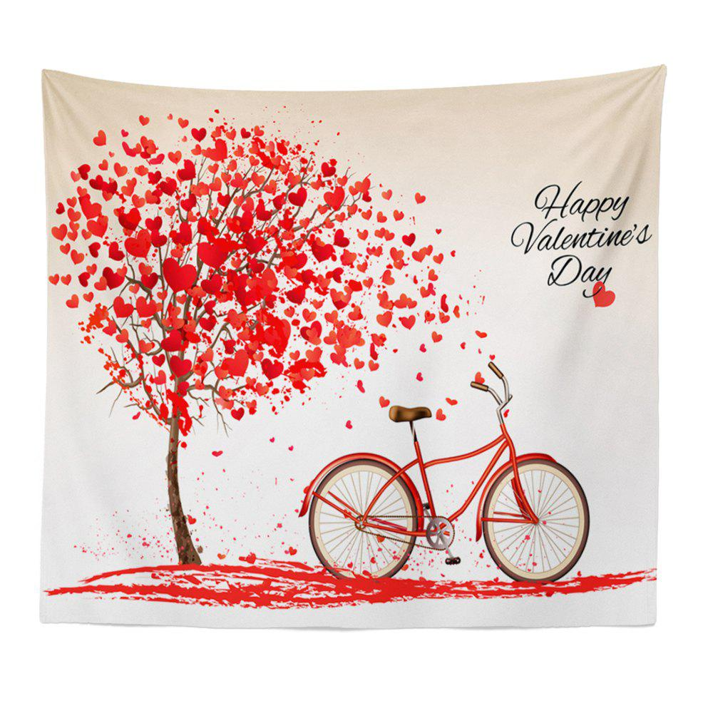Hand-Made Hd Digital Printing Wall Decoration Tapestry Valentine'S Day Decoration - RED 150X100CM