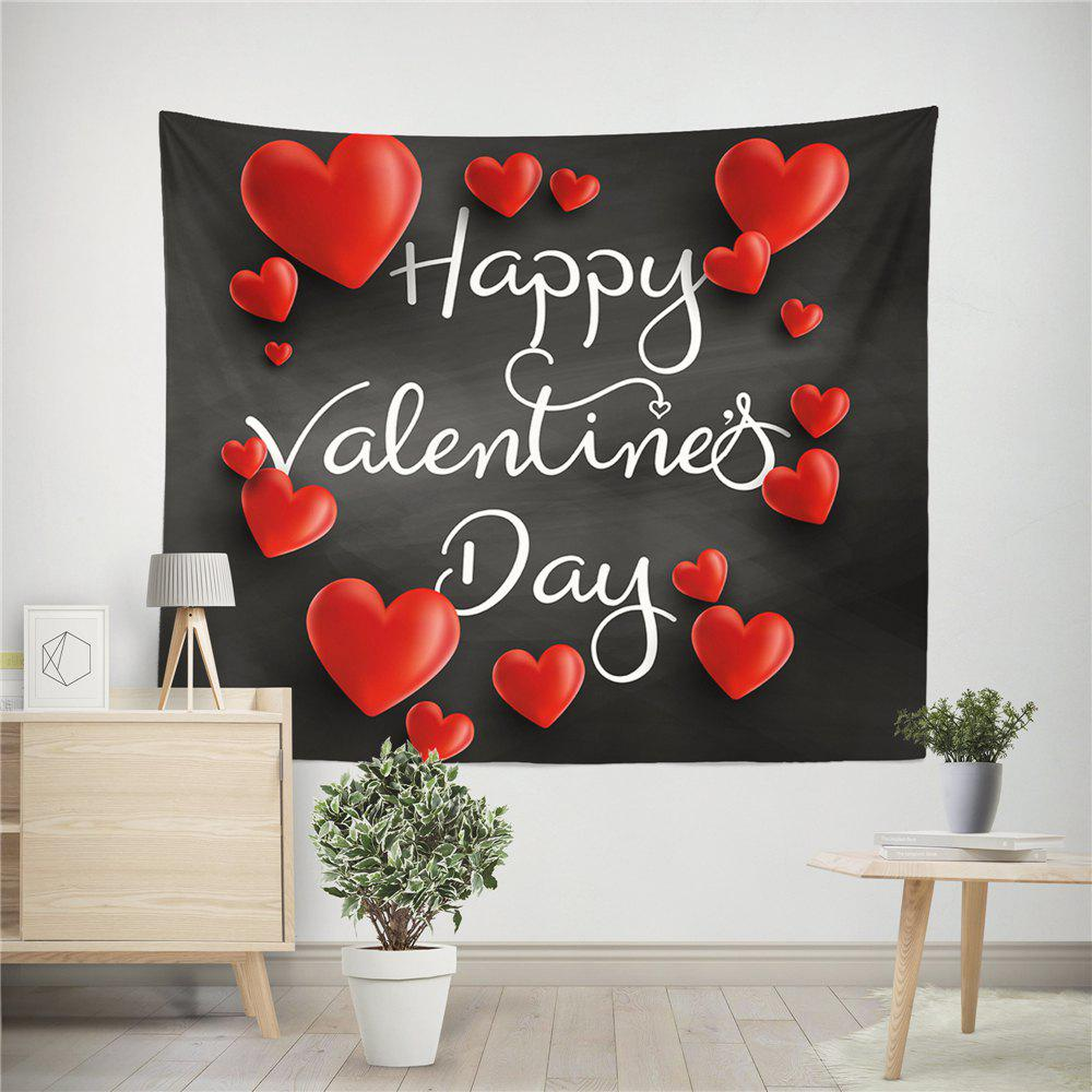 Hand-Made Hd Digital Printing Wall Decoration Tapestry Valentine'S Day Decoration - BLACK 150X130CM