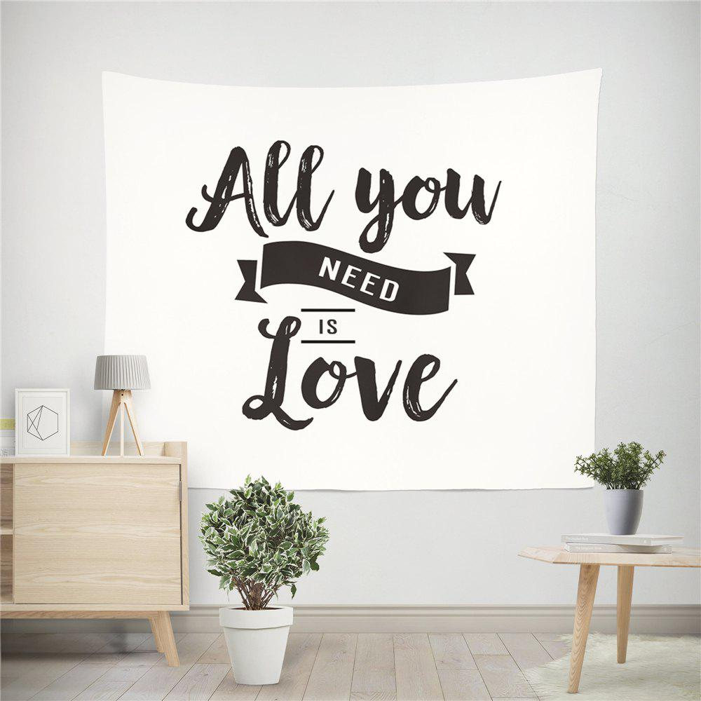 Hand-Made Hd Digital Printing Wall Decoration Tapestry Valentine'S Day Decoration - BLACK WHITE 200X150CM