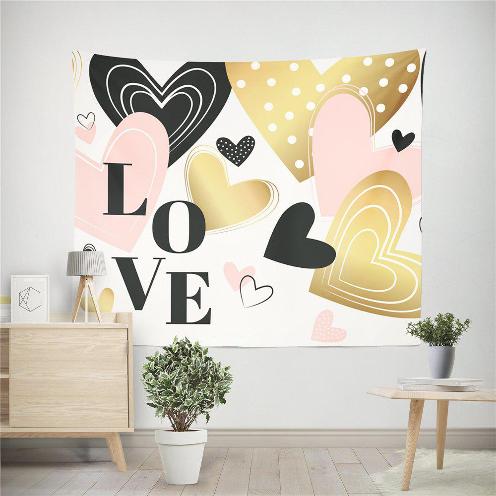 Hand-Made Hd Digital Printing Wall Decoration Tapestry Valentine'S Day Decoration - GOLDEN 150X130CM