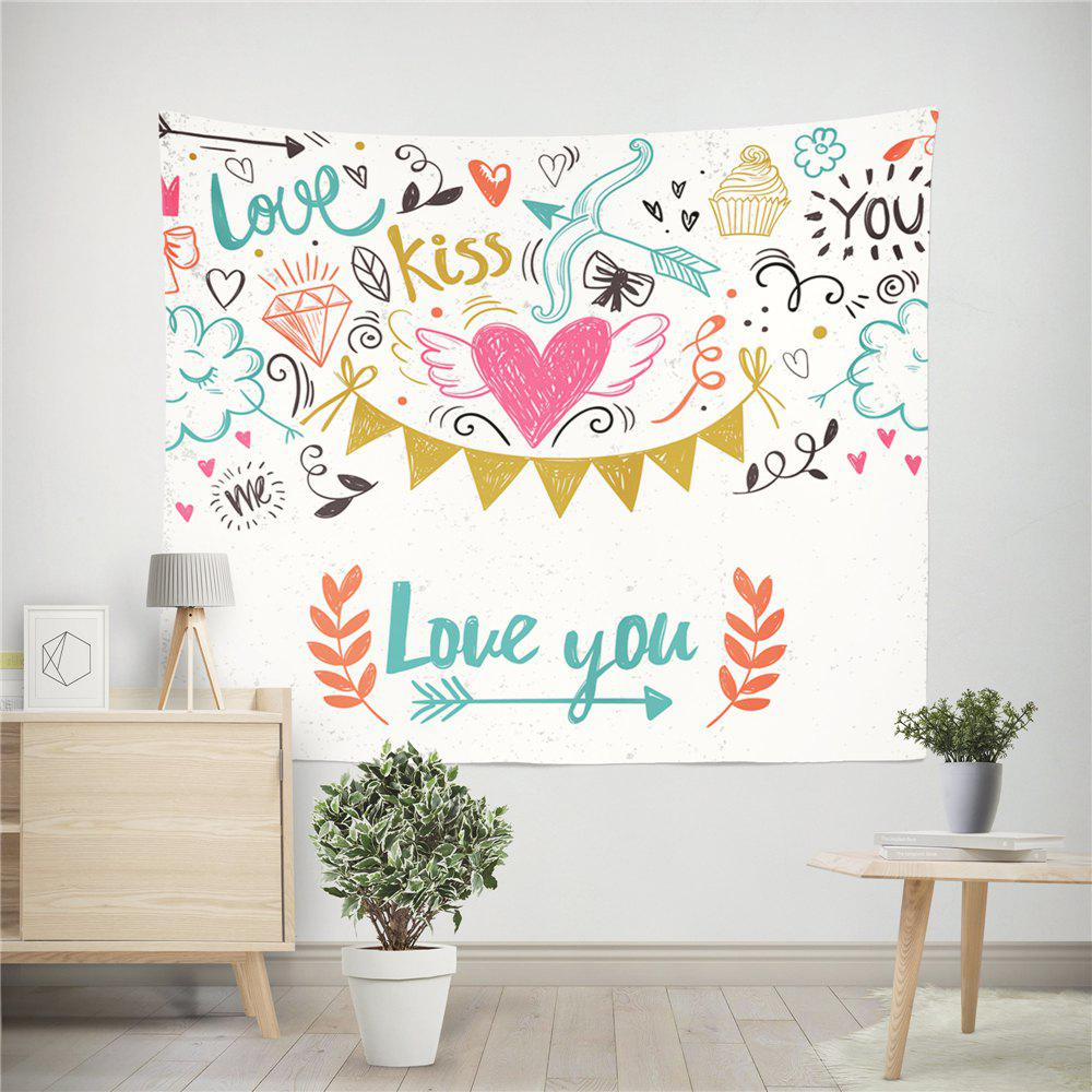 Hand-Made Hd Digital Printing Wall Decoration Tapestry Valentine'S Day Decoration - COLORMIX 200X150CM