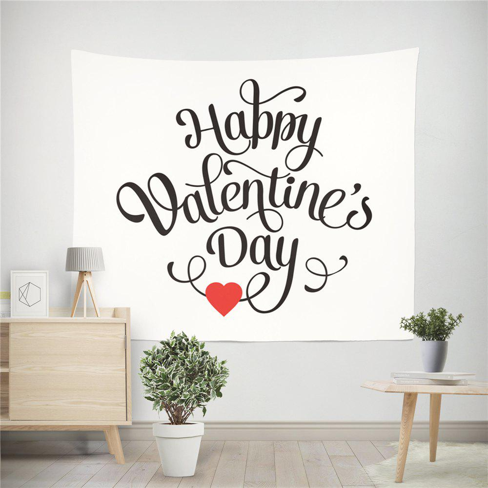 Hand-Made Hd Digital Printing Wall Decoration Tapestry Valentine'S Day Decoration - BLACK/RED 200X150CM