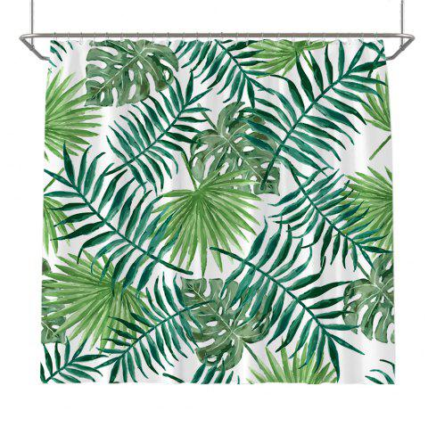 Colorful Tree Four Seasons Shower Curtain Extra Long Bath Decorations Bathroom Decor Sets with Hooks Print Polyester - GREEN W59 INCH * L71 INCH
