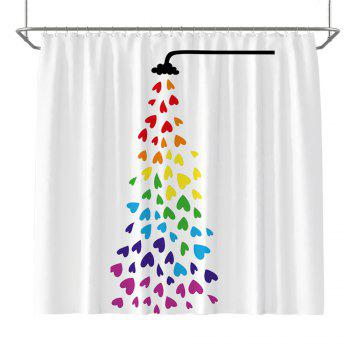 Colorful Tree Four Seasons Shower Curtain Extra Long Bath Decorations Bathroom Decor Sets with Hooks Print Polyester - COLORMIX COLORMIX