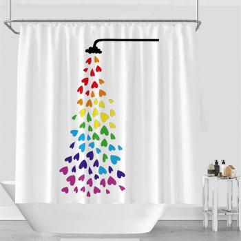 Colorful Tree Four Seasons Shower Curtain Extra Long Bath Decorations Bathroom Decor Sets with Hooks Print Polyester - COLORMIX W59 INCH * L71 INCH
