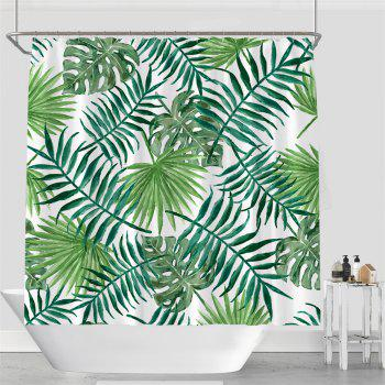 Colorful Tree Four Seasons Shower Curtain Extra Long Bath Decorations Bathroom Decor Sets with Hooks Print Polyester - GREEN W71 INCH * L71 INCH