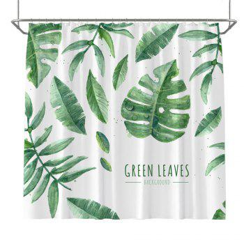 Colorful Tree Four Seasons Shower Curtain Extra Long Bath Decorations Bathroom Decor Sets with Hooks Print Polyester - LIGHT GREEN LIGHT GREEN