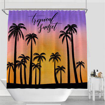 Colorful Tree Four Seasons Shower Curtain Extra Long Bath Decorations Bathroom Decor Sets with Hooks Print Polyester - PURPLE W59 INCH * L71 INCH