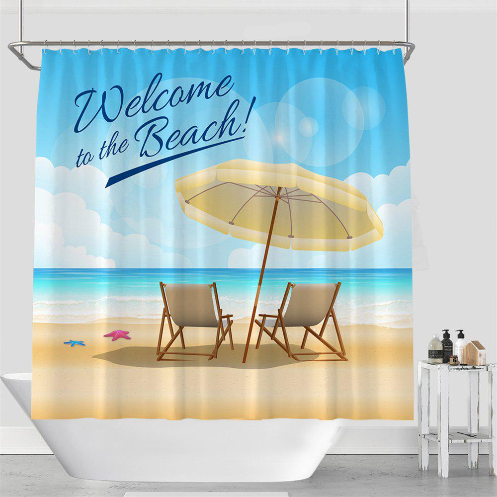 Colorful Tree Four Seasons Shower Curtain Extra Long Bath Decorations Bathroom Decor Sets with Hooks Print Polyester - CASPIAN W71 INCH * L79 INCH