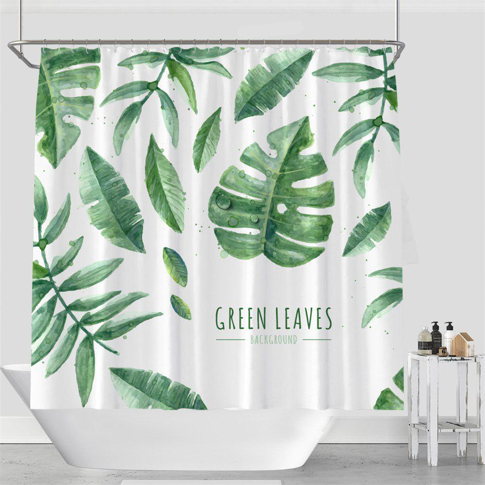 Colorful Tree Four Seasons Shower Curtain Extra Long Bath Decorations Bathroom Decor Sets with Hooks Print Polyester - LIGHT GREEN W71 INCH * L79 INCH