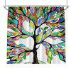 Colorful Tree Four Seasons Shower Curtain Extra Long Bath Decorations Bathroom Decor Sets with Hooks Print Polyester - CASPIAN W71 INCH * L71 INCH