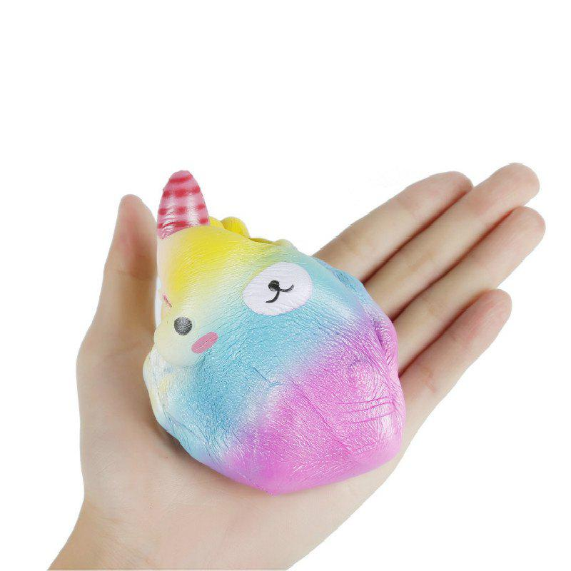 Slow Rising Stress Relief Toy Made By Enviromental PU Replica Cartoon Bear Pointed Head - COLORMIX