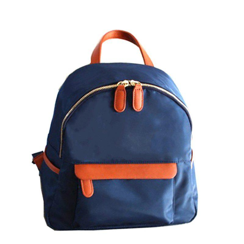 Women's Waterproof Nylon Fashion A Bag Backpack Schoolbags - BLUE