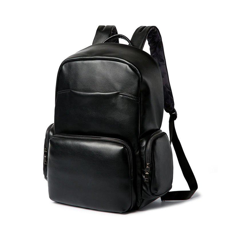 Black Shoulder Bag Students Backpack British Laptop - BLACK