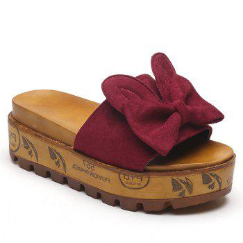 Cool Slippers with Thick Bottom Fashion Flowers - ROSE RED ROSE RED