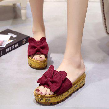 Cool Slippers with Thick Bottom Fashion Flowers - ROSE RED 35