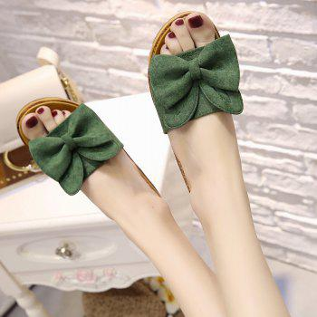 Cool Slippers with Thick Bottom Fashion Flowers - GREEN 37