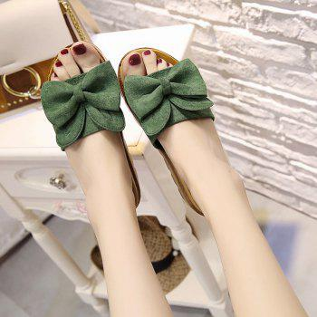 Cool Slippers with Thick Bottom Fashion Flowers - GREEN 38