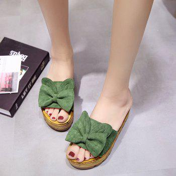 Cool Slippers with Thick Bottom Fashion Flowers - GREEN 35
