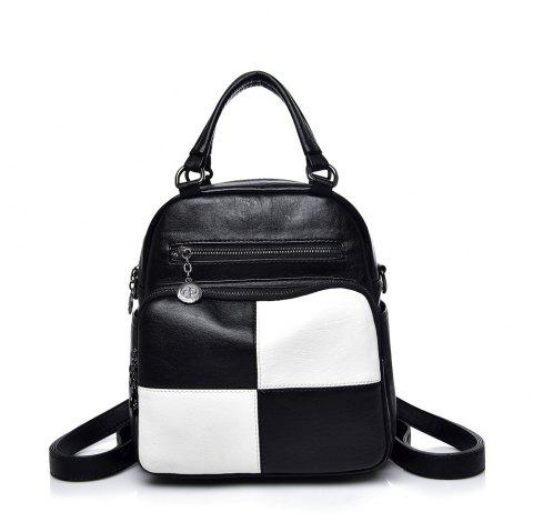 Dual Backpack Multi-functional Backpack - BLACK WHITE