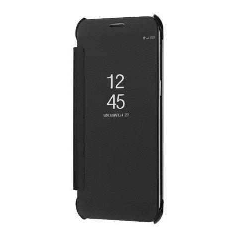 Case Cover For Samsung Galaxy A5(2018) Luxury Clear View Mirror Flip Smart - BLACK