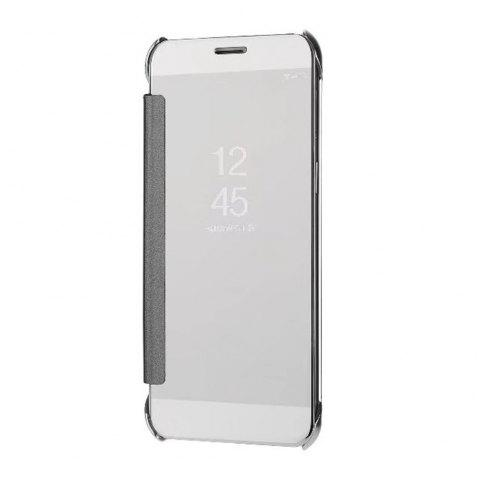 Case Cover For Samsung Galaxy A5(2018) Luxury Clear View Mirror Flip Smart - SILVER