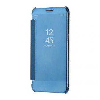 Case Cover For Samsung Galaxy A5(2018) Luxury Clear View Mirror Flip Smart - AZURE AZURE