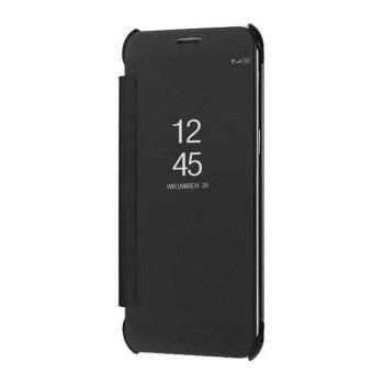 Case Cover For Samsung Galaxy A5(2018) Luxury Clear View Mirror Flip Smart - BLACK BLACK