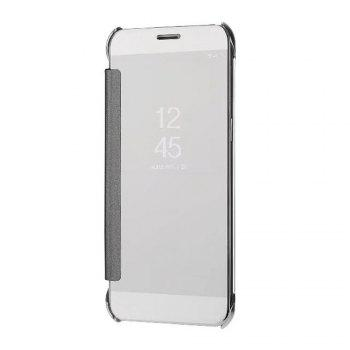 Case Cover For Samsung Galaxy A5(2018) Luxury Clear View Mirror Flip Smart - SILVER SILVER