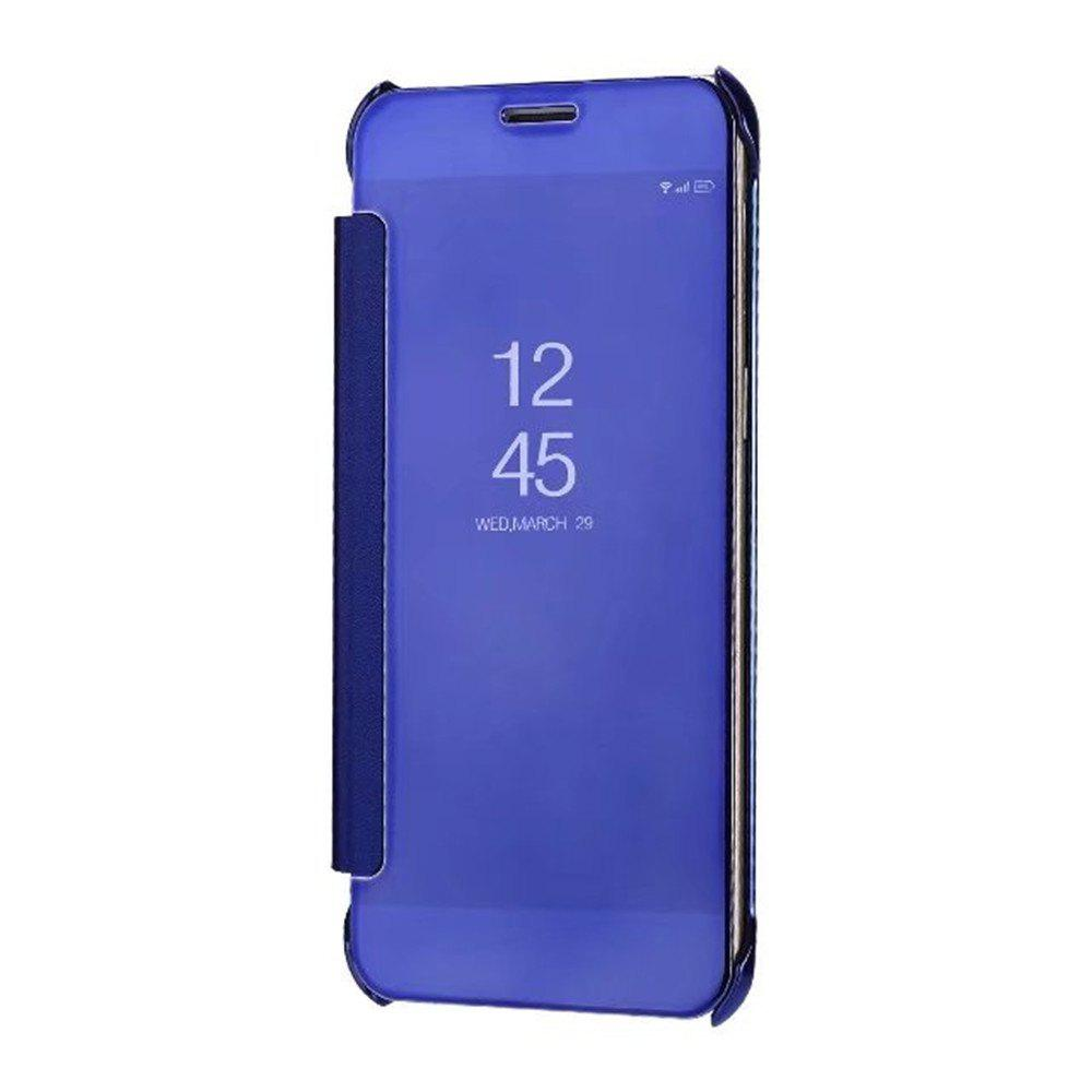 Case Cover For Samsung Galaxy A5(2018) Luxury Clear View Mirror Flip Smart - ROYAL