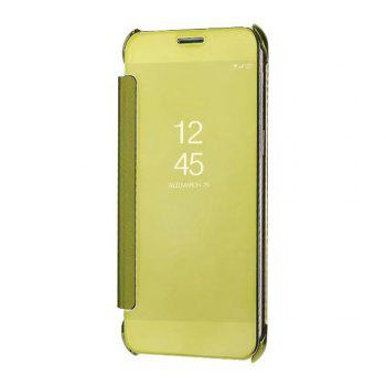 Case Cover for Samsung Galaxy A7(2018) Luxury Clear View Mirror Flip Smart - GOLDEN GOLDEN