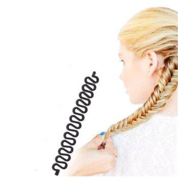 New Roller Hair Styling Tools Weave Braid Hair Braider Tool Hair Styling Magic Twist Bun - BLACK