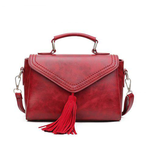 Fashion Lady's High Grade Single Shoulder Hand Held Backpack - RED