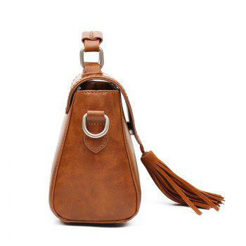 Fashion Lady's High Grade Single Shoulder Hand Held Backpack -  BROWN
