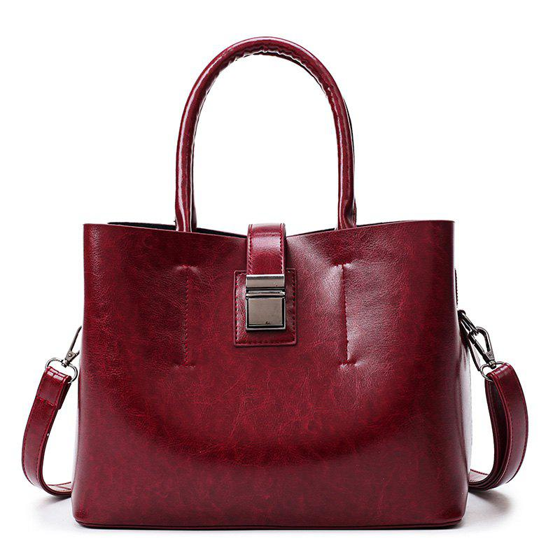 High End Ladies Hand Held Skew Backpack - WINE RED