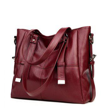 European And American Fashion Big Capacity Lady Backpack - WINE RED