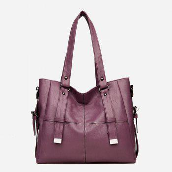 European And American Fashion Big Capacity Lady Backpack - PURPLE TARO PURPLE TARO