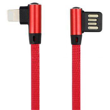 Iphone Double Bend Data Line - RED RED