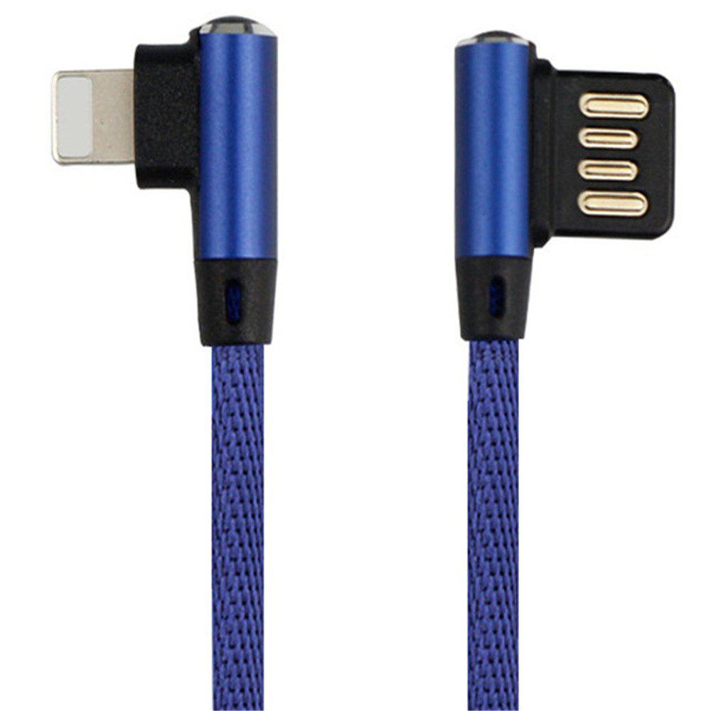 Iphone Double Bend Data Line - BLUE