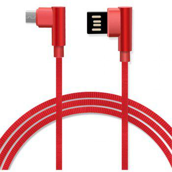 The Android Double Elbow Multi-Function Data Cable - RED