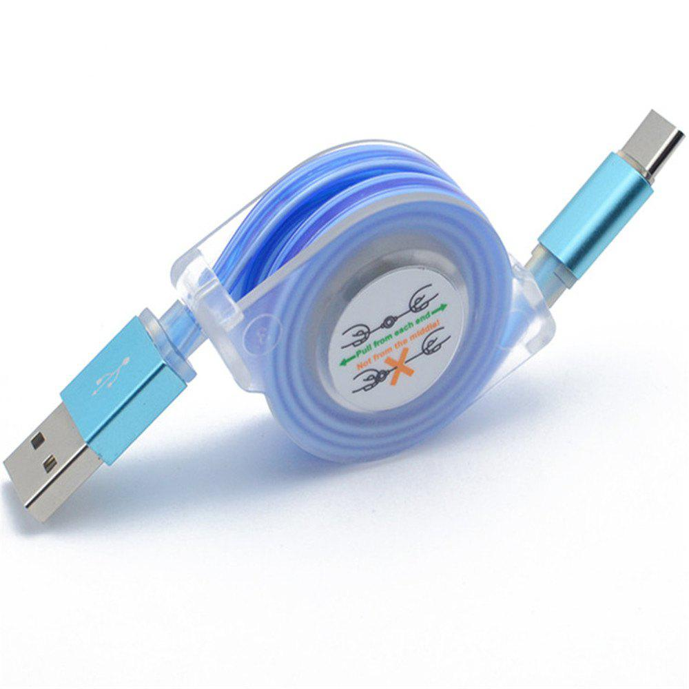 Type - C Fashion Cool Light Cable - BLUE