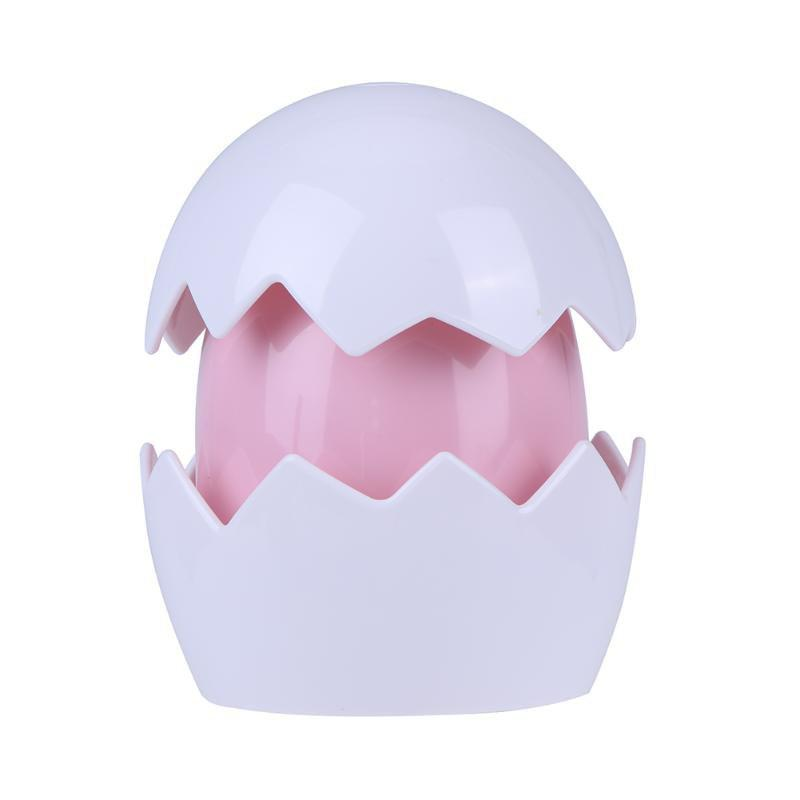 Cute Yolk Egg LED Night Light Children Baby Nightlight Toy Christmas Gift Switch Table Lamp Battery Powered for Kid Gift - PINK
