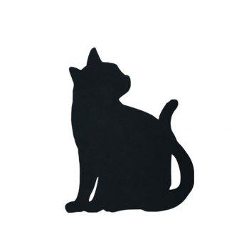 Optically Controlled Sound Control Cat Night Light Shadow LED Projection Lamp - BLACK 135X175MM