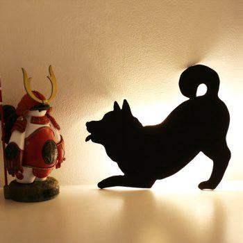 Optically Controlled Sound Control Dog Night Light Shadow LED Projection Lamp - BLACK BLACK