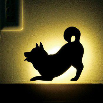 Optically Controlled Sound Control Dog Night Light Shadow LED Projection Lamp - BLACK 164X150MM