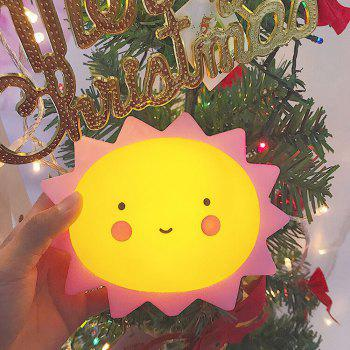 Cartoon Lovely Sun Shape Children Sleeping Bedroom Night Light - YELLOW YELLOW