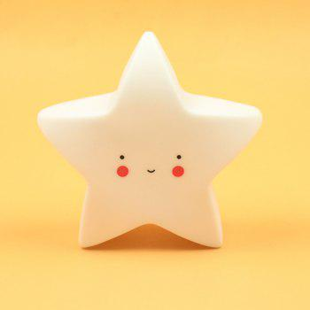 Cartoon Lovely White Star Shape Children Sleeping Bedroom LED Night Light - WHITE 14.5X13.5X5CM